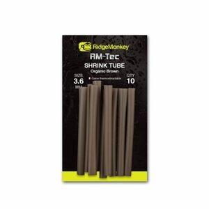 RidgeMonkey Smršťovací hadička RM-Tec Shrink Tube Organic Brown 10ks - 3,6mm