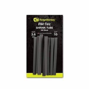 RidgeMonkey Smršťovací hadička RM-Tec Shrink Tube Silt Black 10ks - 3,6mm