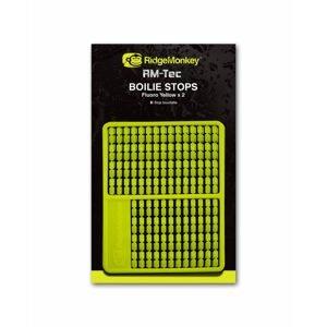 RidgeMonkey Zarážka RM-Tec Boilie Stops 216ks - Fluoro žlutá