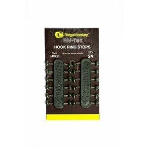 RidgeMonkey Gumové Stopery RM-Tec Hook Ring Stops 24ks - velké (vel.háčku 1-4)