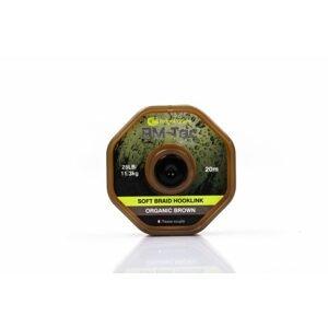 RidgeMonkey Šňůrka RM-Tec Soft Braid Hooklink 25lb 20m - Organic Brown
