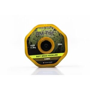 RidgeMonkey Šňůrka RM-Tec Soft Braid Hooklink 25lb 20m - Camo