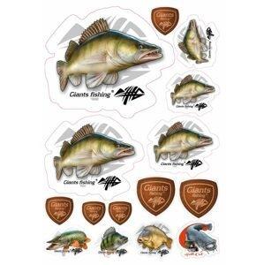 Giants Fishing Mix nálepek Candát 15ks