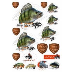 Giants Fishing Mix nálepek Okoun 17ks