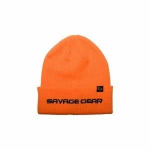 Savage Gear Zimní čepice Fold-up Beanie One Size Sun Orange