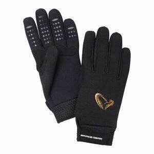 Savage Gear Rukavice Neoprene Stretch Glove Black - M