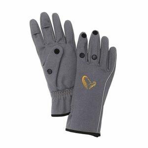 Savage Gear Rukavice Softshell Glove Grey - XL
