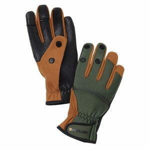 Savage Gear Neoprénové rukavice Neoprene Grip Glove Green/Black - L