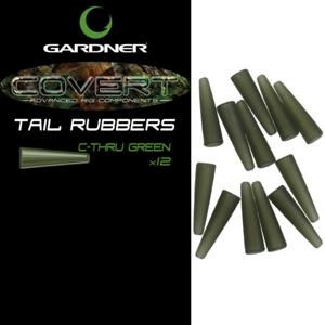 Gardner Převleky COVERT TAIL RUBBERS C-THRU, zelená 12ks