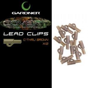 Gardner Klip na boční olovo Covert Lead Clips C-Thru Green 10ks