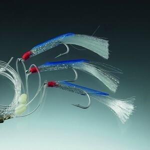 Balzer Návazec na tresky s peříčky - bílými - Modrý