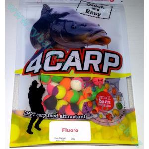 4Carp Duo Fluoro Pop up boilies - 12mm Crab