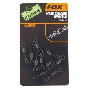 Fox Rychlovýměnné obratlíky Edges Kwik Change Swivel 10ks - vel. 7