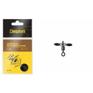 Delphin Obratlík Inline Swivel with Rubber Stopper