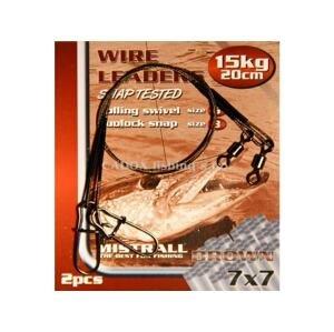 Mistrall Ocelové lanko Wire Leaders 1x7 20cm, 2ks - 15kg