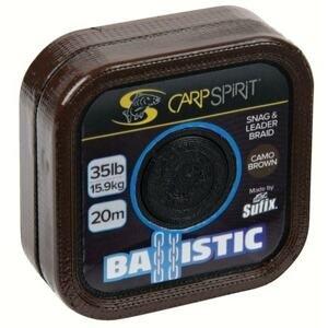 Carp Spirit Šňůra Ballistic Camo Brown 20m - 35lb