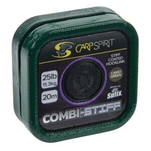 Carp Spirit Šňůra Combi Stiff Coated Braid Camo Green 20m - 15lb