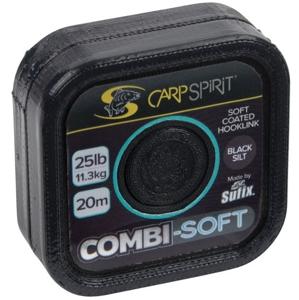 Carp Spirit Šňůra Combi Soft Coated Braid Black Silt 20m - 25lb