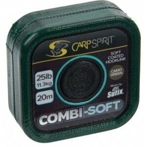 Carp Spirit Šňůra Combi Soft Coated Braid Camo Green 20m - 35lb