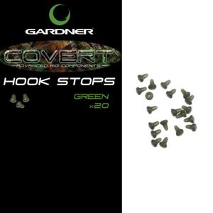 Gardner Zarážka zvonová Covert Hook Stops 20ks - hnědé