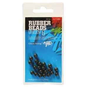 Giants Fishing Gumové kuličky Rubber Beads Transparent Green 20ks - 4mm