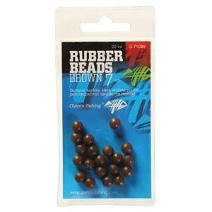 Giants Fishing Gumové kuličky Rubber Beads Transparent Brown 20ks - 4mm