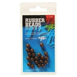 Giants Fishing Gumové kuličky Rubber Beads Transparent Brown 20ks - 5mm