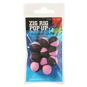 Giants Fishing Pěnové plovoucí boilie Zig Rig Pop-Up 14mm - pink / black 10ks