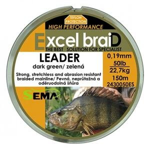 Sema Pletená šňůra Leader zelená 150m - 20lb