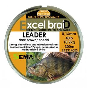 Sema Pletená šňůra Leader hnědá 300m - 0,31mm 120lb 54,5kg