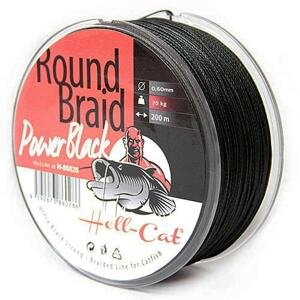 Hell-Cat Splétaná šňůra Round Braid Power Black 200m - 0,60mm