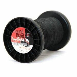 Hell-Cat Splétaná šňůra Round Braid Power Black 1m - 0,80mm