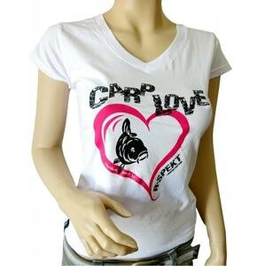 R-Spekt Dámské tričko Carp Love bílé - L