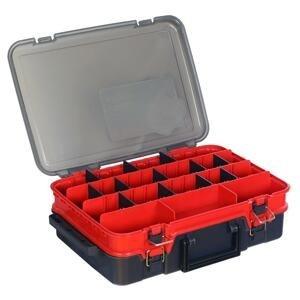 Hell-Cat Kufřík plastový TB Double Layer ( Red-Grey )