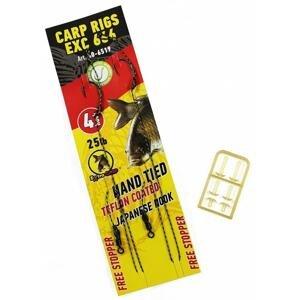 Extra Carp Boilies návazce Rig EX 666 Barbless 2ks - vel.2