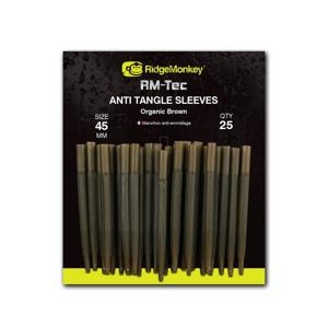 RidgeMonkey Převleky proti zamotání Anti Tangle Sleeves 25ks - 45mm hnědá organic brown