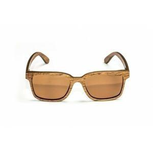 Nash Dřevěné Brýle Timber Sunglasses - jantarové skla
