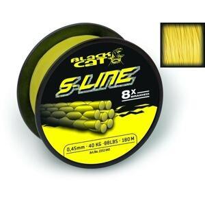 Black Cat Šňůra S-Line žlutá - 0.45mm 180m