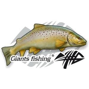 Giants Fishing Nálepka malá Pstruh