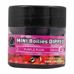 LK Baits MINI Boilies v dipu 12mm 150ml - Purple Plum