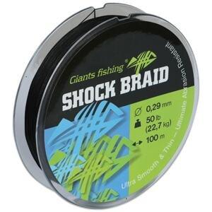 Giants Fishing Splétaná šňůra Shock Braid 100m - 0,29mm/ 50lb(22,7kg)