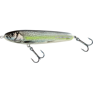 Salmo Wobler Sweeper Sinking Silver Chartreuse Shad - 10cm 19g