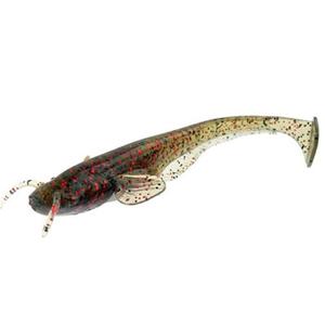 FishUP Dipované umělé nástrahy Catfish 75mm 8ks - Green dýně / Red & Black