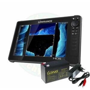 Lowrance Echolot HDS LIVE 12 se sondou Active Imaging 3v1 + baterie + nabíječka ZDARMA