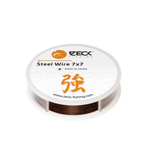 Zeck Vazatelné ocelové lanko 7x7 Steel Wire 5m - 0,45mm / 16,5kg