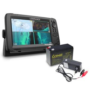 Lowrance Echolot Hook Reveal 9 se Sondou Tripleshot + baterie + nabíječka ZDARMA