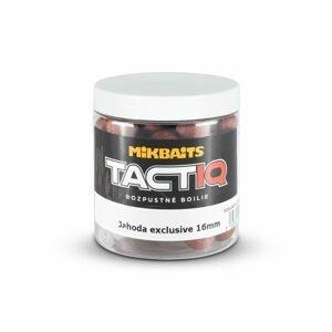 Mikbaits Rozpustné boilie TactiQ Jahoda exclusive 250ml - 20mm