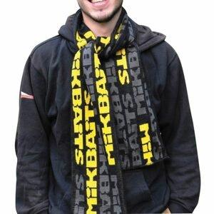 Mikbaits Šála černo/šedo/žlutá