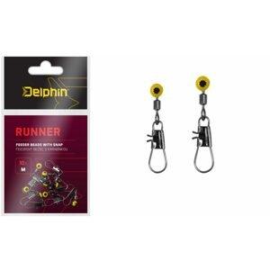 Delphin Feederový běžec s karabinkou Runner 10ks - S