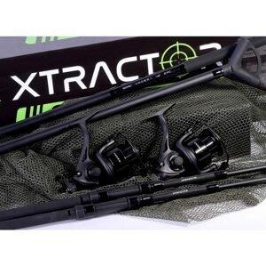 Sonik Pruty s navijáky a podběrákem Xtractor 2 Rod Carp Kit 9' 2,7m 3lb